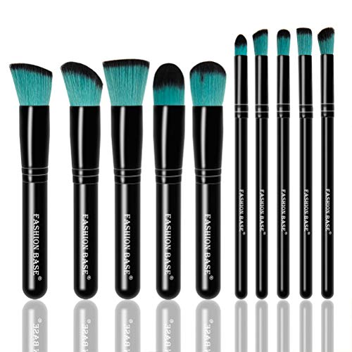 Fashion Base professionelles Kabuki-Pinsel-Set für Make-up, 10-teilig, synthetische essentielle...