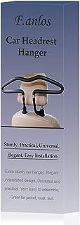 Auto Kleiderbügel, Autokleiderbügel für Kopfstütze, Kopfstützen Kleiderbügel, hochwertige Ausführung Chrom Kleiderbügel, 44 x 11 cm, Schwarz