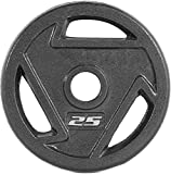 CAP Barbell 2-Inch Olympic Grip Plate, 25-Pounds