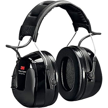 3M HRXS220A Cuffie Elettroniche con Radio FM, Bardatura Temporale, 32 dB, Nero