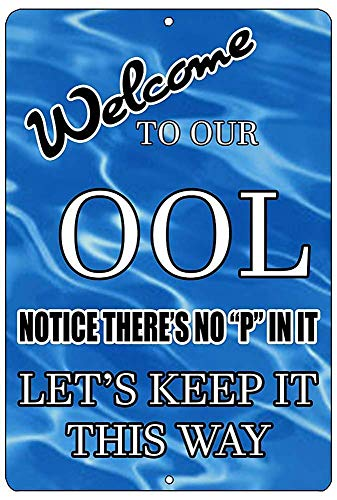 DIAN CLUB No Pee In Pool Ool Swim Wand Blechschild Eisen Malerei Metall Kreativität Poster hängende Dekoration Plaque Retro Warnung Kunst Bar Cafe Party Garage
