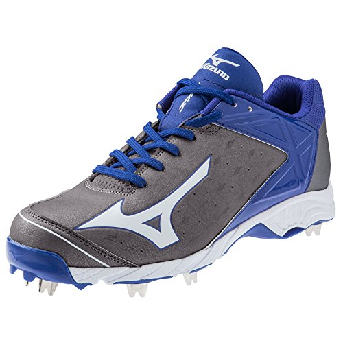 Mizuno 9-Spike Advanced Swagger 2 Low Grey/Royal 12.5 Men Baseball Metal Cleats