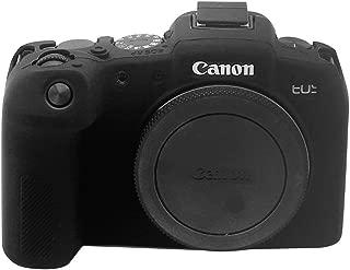 Soft Silicone Armor Skin Rubber Protective Camera Case for Canon EOS RP (Black)