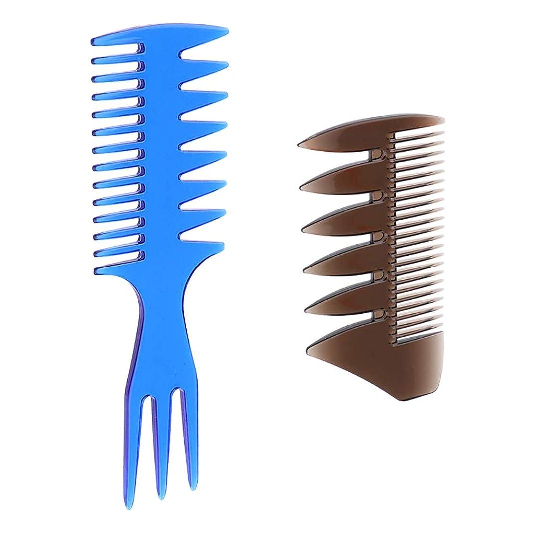 何十人もクロニクル委託gazechimp 3-in-1櫛 2-in-1櫛 ヘアサロン 髪の櫛 静電気防止櫛 2個