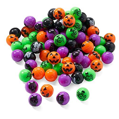 THE TWIDDLERS 85 Pelotas Saltarinas - Diseño de Halloween - Ideal para Bolsas Regalos de Fiesta, Piñatas Juguetes, Bolsas Sorpresa - Dulce o Travesura - Trick or Treat Favores