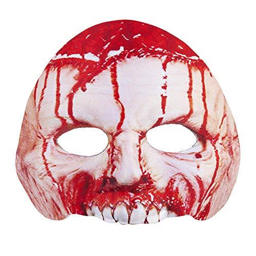Widmann Vd-wdm05702 Tissu sans Menton Psycho Masque, Rouge, Taille Unique
