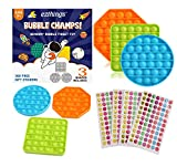 eZthings Heavy Duty Stress Relief Sensory Toy - Push Bubble Popper Champs Fidget Toys for Kids and Adults (Fun Colors)