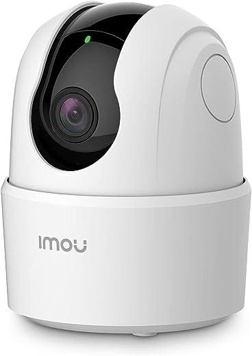 Imou Telecamera Wi-Fi Interno, 1080P Videocamera di Sorveglianza, Tracciamento del Movimento con Sirena, Telecamera WiFi con Rilevamento Umano, Audio Bidirezionale, Funziona con Alexa, 2,4G, Ranger 2C