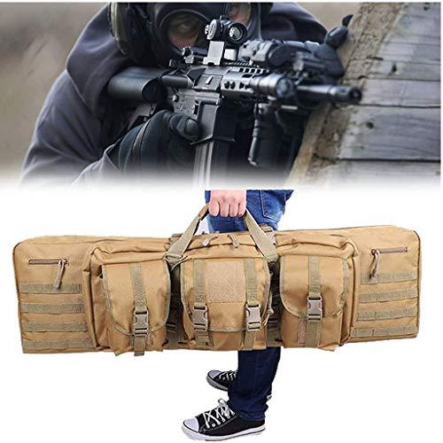 Mochila Airsoft, Bolsas Rifle con Estructura de Poliéster PVC 1000D, Gran Capacidad, Coloca Dos Rifles, Bolsa de Caza para Escalada, Pesca, Camping, Caza, 36inch