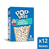 Pop-Tarts Cupcake, Breakfast Toaster Pastries, Frosted Confetti Cupcake, 13.5oz Box (Pack of 12)