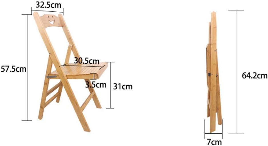 AYHa Tabouret bambou Chaise pliante Portable Chaise enfant extérieur Pêche Chaise Installation gratuite sangles bébé,Petit Petit