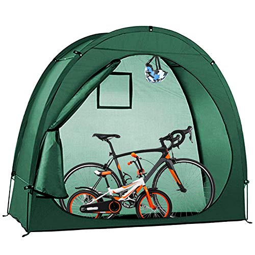 ZXYMUU Waterproof Bike Tent, Outdoor Portable Bicycle Storage Shed, 200CMX88CMX165CM with Window Design, Space Saving for Outdoor Bicycle Sundries Storage