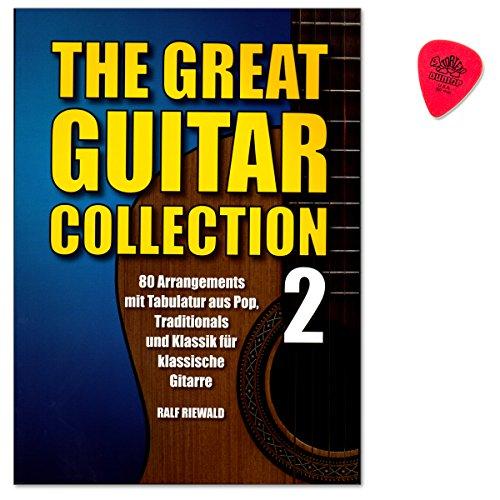 The great Guitar Collection Band 2-80 Stücke für klassische Gitarre aus Pop, Klassik, Traditional und Weihnachten - mit Original Dunlop Plek
