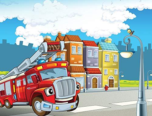 1000 Piezas De Rompecabezas Puzzle 1999 Piezas Camión De Bomberos De Dibujos Animados Jigsaw Puzzle Regalo Para Niños Juguetes Educativos 75X1049Cm