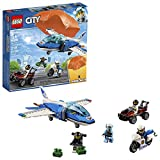 LEGO City - Police Policía Aérea: Arresto del Ladrón Paracaidista, Set de Aventuras para Construcción con Paracaídas, Avión y Moto de Juguete (60208)