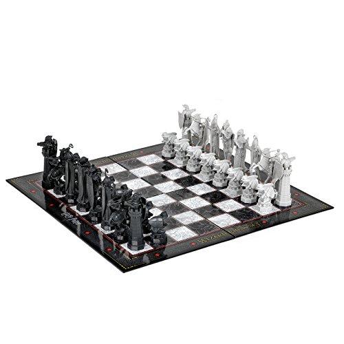 Réplica de juego de ajedrez de Harry Potter de La piedra filosofal, réplica de las figuras de ajedrez 5-11,5cm tablero 31x31cm producto oficial plástico