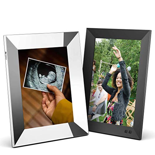 Nixplay Smart Digital Picture Frame Bundle - 10 Inch and 9.7 Inch Metal with 2K Display