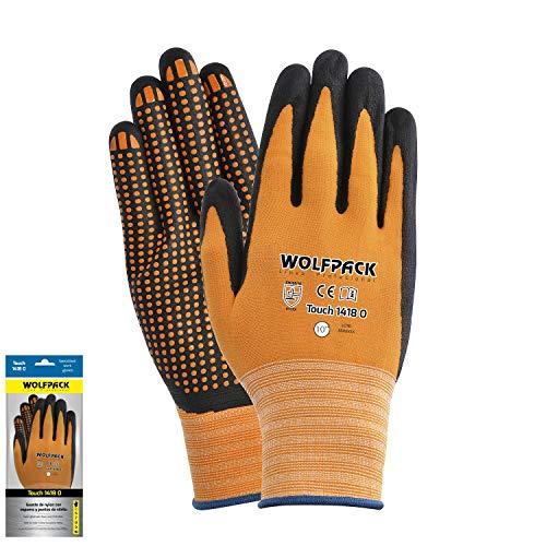 Wolfpack Ligne professionnelle 15030898 Gant en nylon avec paume en mousse et points nitrile Touch 10\