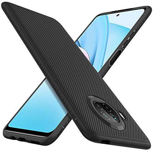 C'iBetter Kompatibel mit Xiaomi Mi 10T Lite 5G Hülle,Stylisch Design Hülle Abdeckung Handy Handyhülle Schutzhülle Shock Absorption Hülle Kompatibel mit Xiaomi Mi 10T Lite 5G Smartphone, Schwarz