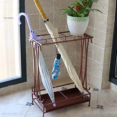 Porte-parapluies Art de Fer Parapluie Porte-Pluie Étagères de Rangement Solide et Durable 17 * 9 * 24 Pouces