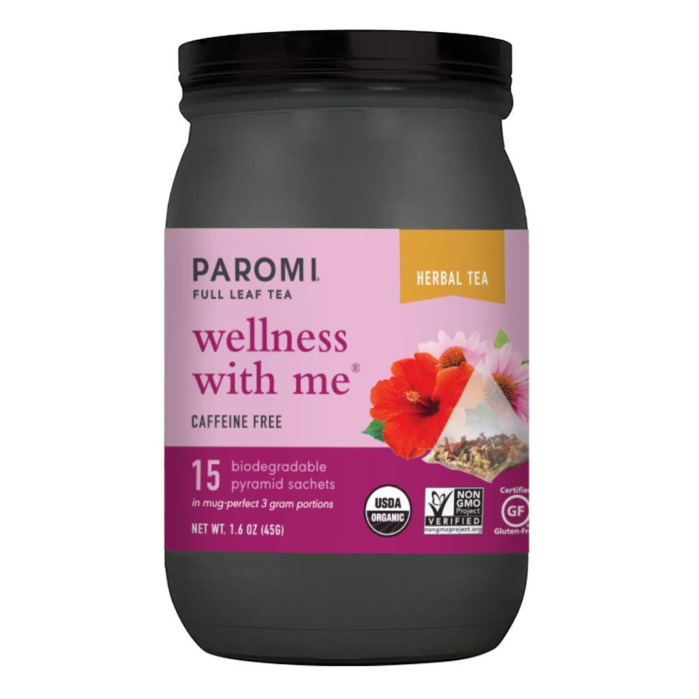 Paromi Tea Organic Wellness Opening large Spring new work one after another release sale With Me Herbal Caffeine-Free 15