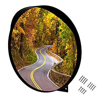 WatchYrBack 24 inch Convex Mirror Outdoor or Indoor Wide Angle View Curved Traffic Safety and Security Mirror 610 mm