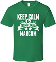 SHAMBLES TEES Marcom Keep Calm and Drink Like Last Name Irish Ireland St Patricks Day T Shirt