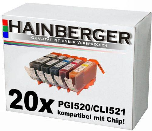20 Druckerpatronen mit Chip für Canon Pixma IP3600 IP4600 MP540 MP620 MP630 MP980 MP 540 620 630 980 IP 3600 4600