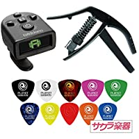 Planet Waves Mini Headstock Tuner(PW-CT-12) & NS Artist Classical Capo(PW-CP-13) セット[PWピック取り混ぜ10枚付]
