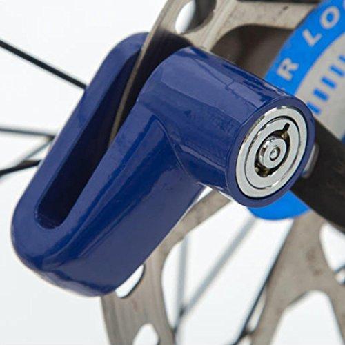 Hunpta Diebstahlschutz / Wegfahrsperre, für Motorrad, Moped und Scooter geeignet, Befestigung an Bremsscheibe, besonders schwer zu knacken, abschließbar, blau