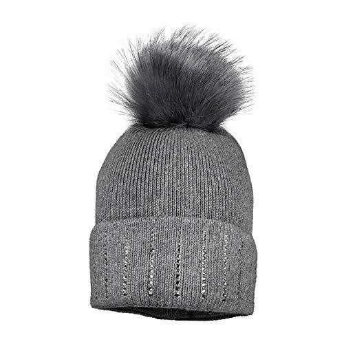 maximo Mädchen Mütze mit Bommel und Strass-51-53 - Kindermode : Mädchen