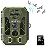"""REXING H3 Electronic Animal Caller Trail CAM W/ 2.8"""" LCD,2.7K Video +20MP Photo,Night Vision,.2s Trigger,100FT Range,512GB,16 Month Standby Hunting/Wildlife Surveillance CAM(32GB Included)"""
