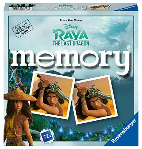 Ravensburger 20738 - Disney Raya and the last Dragon Memory, der Spieleklassiker für alle Raya Fans, Merkspiel für 2-8 Spieler ab 4 Jahren