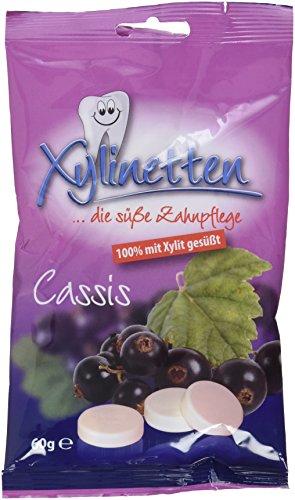 Xylinetten Xylitol-Bonbons Cassis, 2er Pack (2 x 60 g)