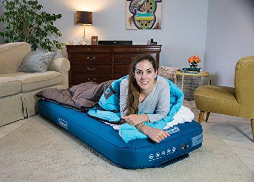 Coleman Heaton Peak Comfort Cotton Sleeping Bag - 205 x 85cm Sleeping Bag - Blue and Grey