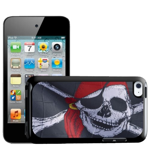 Fancy A Snuggle Pirate Flag Jolly Roger Red Bandana Design Hard Back Case Cover voor Apple iPod Touch 4e Generatie