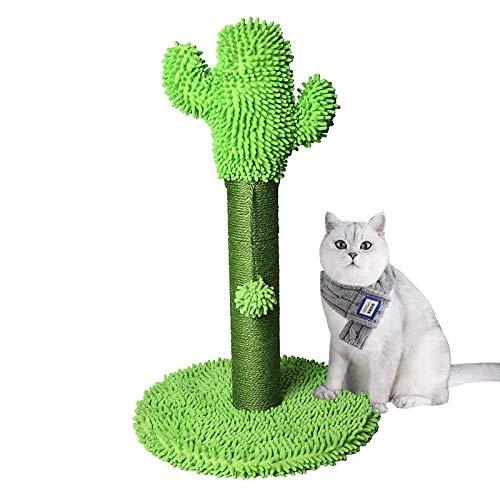HOOLAVA Katzenkratzbaum, 65,5 cm, Kaktus-Kratzbaum mit Sisal-Stange und hängendem Ball, Spielzeug für Kätzchen und ausgewachsene Katzen
