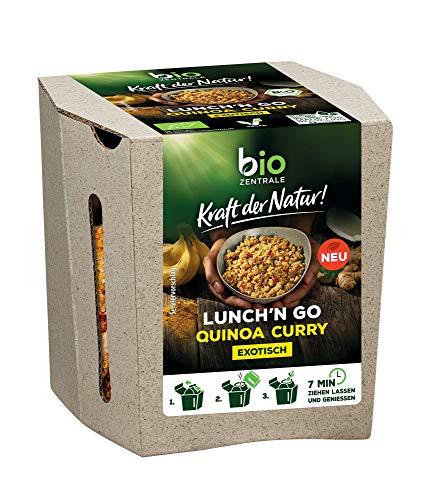biozentrale Lunch'n Go Quinoa Curry | 85 g |veganes Bio-Mittagessen für unterwegs und im Büro | Proteinquelle