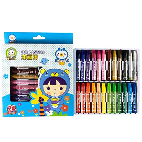 Tireow Dessin Pour Enfants Stylo Graffiti Pinceau Crayons Pastel à L'huile (12/18 / 24/36 Couleurs) Peinture à L'huile Graffiti Stick Crayon