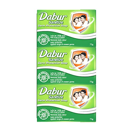 (Top deal) Dabur Sanitize Germ Protection Soap – 75gm (Pack of 12)