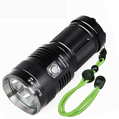 Lampe de Poche à Del Multifonctions, Lampe de Poche Tactique puissante Super Brillante de 2 000 lumens, Lampe de Poche étanche à 5 Modes à Mise au Point réglable, 4 Piles AAA + Chargement A ++
