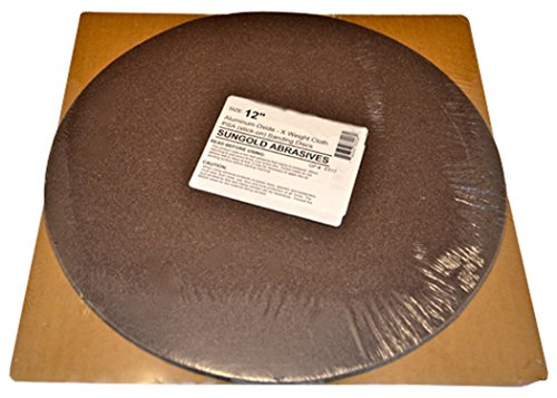 Sungold Abrasives 332055 60 Grit PSA Stick-On Sanding Discs for Stationary Sanders X-Weight Cloth Premium Industrial Aluminum Oxide (3 Pack), 12