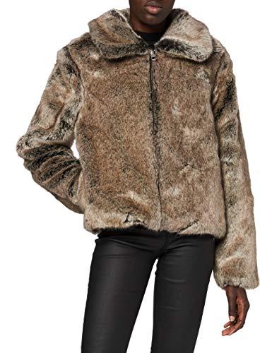 Superdry Boho Faux Fur Jacket Abrigo de Piel sintética, vis