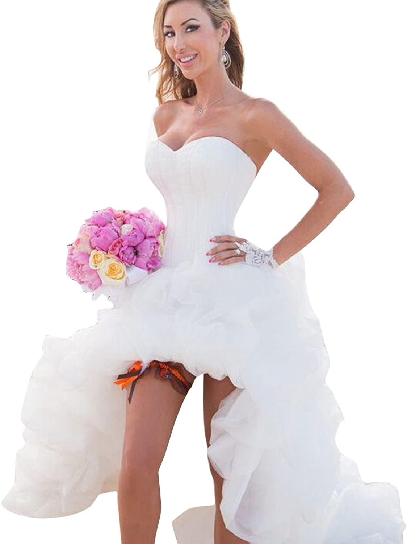 JoyVany Women Hilo Wedding Dress 2018 Popular Summer Beach Bridal Gowns Train Wedding Gown
