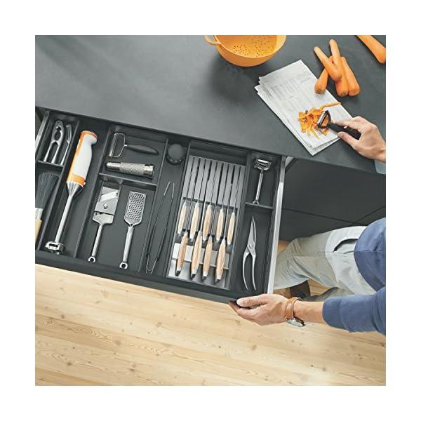 Portacuchillos de Blum I Cajón I Hasta 9 cuchillos I Plástico/Acero inoxidable I Extraíble I Cocina