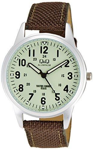 『[シチズン キューアンドキュー]CITIZEN Q&Q 腕時計 ウォッチ ミリタリー 5気圧防水 キャンバスベルト カーキ メンズ レディース キッズ』のトップ画像