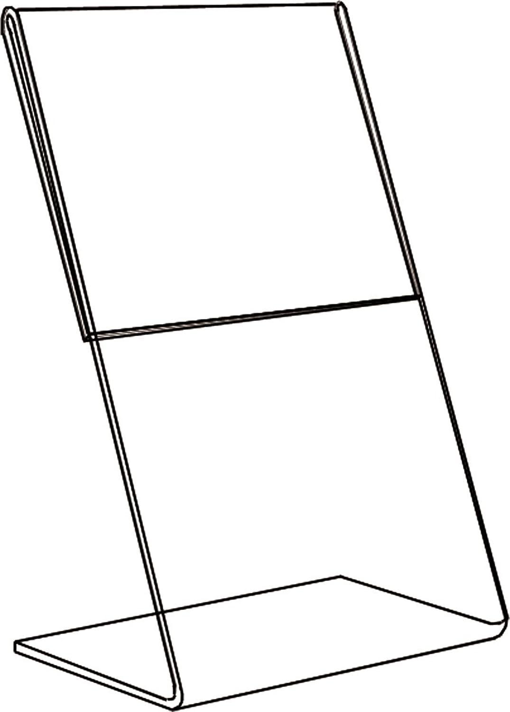 Acrylic Sign Holder Holder Holder - Slant Back - 140x178mm (BD1221) B004WKJM80 | Neues Produkt  53cf55