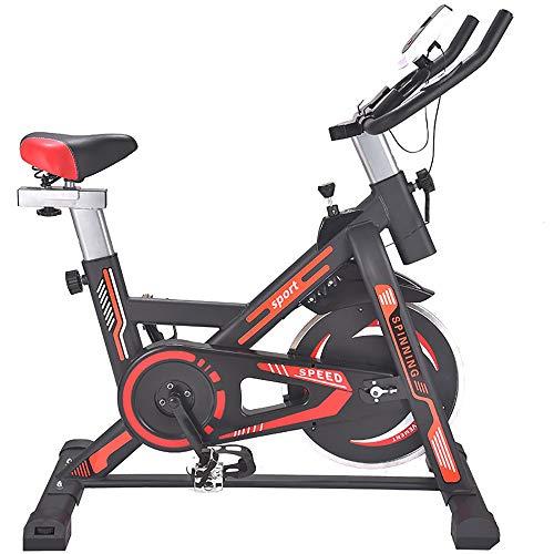 FGONG Vélo Debout d'intérieur Vélo de vélo Vélo d'appartement Stationnaire avec entraînement par Courroie, résistance magnétique réglable, Large Coussin Souple, écran LCD Lisse et Silencieux,Orange