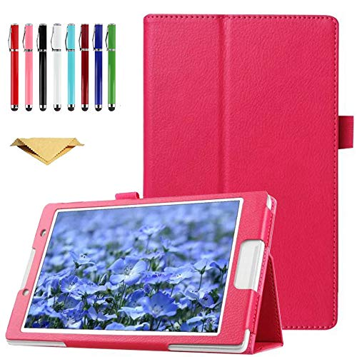TianTa Case for Galaxy Tab A 8.0 SM-T350, PU Leather Slim Folding Stand Cover Case with Auto Sleep/Wake for Samsung Galaxy Tab A 8.0 SM-T350/T355/P350/P355, 2015 Release, Rose