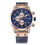 Reloj de Cuarzo para Hombre Reloj cronógrafo con Reloj de Pulsera, clásico y Resistente al...